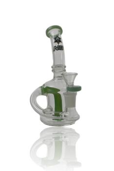 """6"""" NICE GLASS PALE GREEN MINI SAXO REACHOUT CAN"""