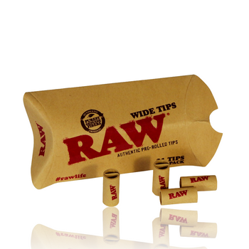 RAW WIDE PRE-ROLLED TIPS
