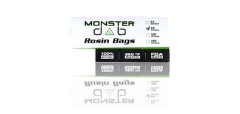 "2"" X 4"" 90 MICRON MONSTER DAB ROSIN BAG 10 PACK"