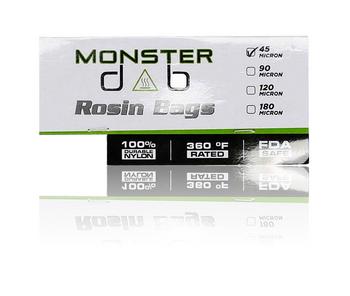 "3"" X 6"" 45 MICRON MONSTER DAB ROSIN BAG 10 PACK"