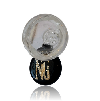 NICE GLASS BLACK 19MM HONEYCOMB BOWL