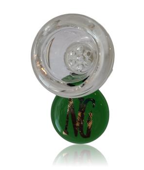 NICE GLASS GREEN 19MM HONEYCOMB BOWL