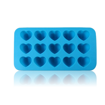 DOPE MOLDS 15 X BLUE HEARTS SILICONE MOLD