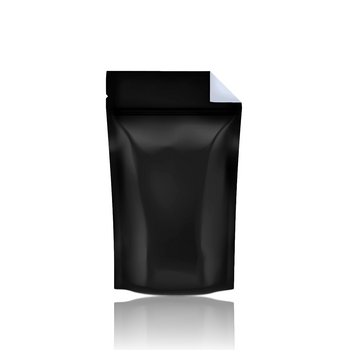 BLACK VISTA MYLAR BAG w TEAR NOTCH 1/2oz CAPACITY