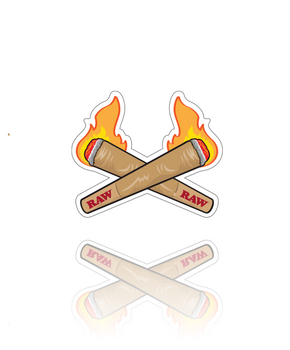 RAW BRAND STICKER - FIRE CONES