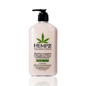 17OZ HEMPZ BLUSHING GRAPEFRUIT & RASPBERRY CREME HERBAL MOISTURIZER