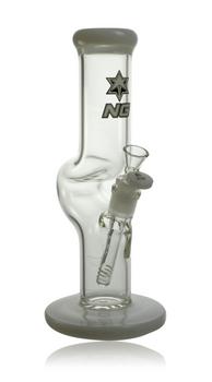"12"" NICE GLASS WHITE STRAIGHT ZONG"