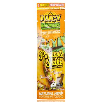 JUICY JAY HEMP WRAPS 2X PINEAPPLE SHAKE PACK/2
