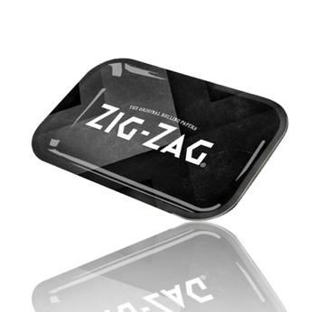 ZIG ZAG BLACK MEDIUM ROLLING TRAY 27cm x 16cm x 2cm