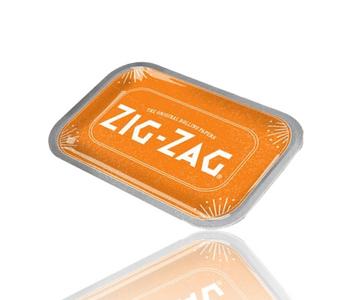ZIG ZAG ORANGE MEDIUM ROLLING TRAY 27cm x 16cm x 2cm