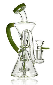 """8"""" PULSAR RECYCLER RIG -14MM - LIME GREEN"""