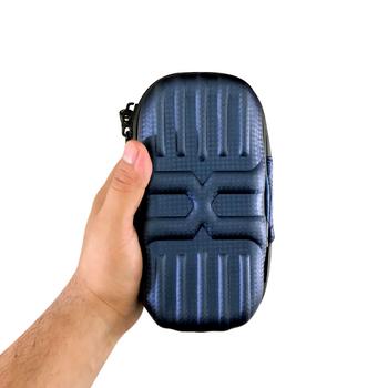 "VATRA BLUE DOUBLE DECKER 7""x3""x3"" MUMMY CASE"
