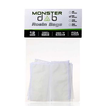 "2"" X 4"" 90 MICRON MONSTER DAB ROSIN BAG 12 PACK"