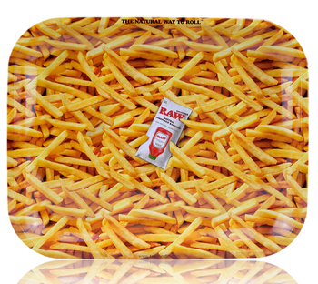 RAW FRENCH FRIES ROLLING TRAY LARGE