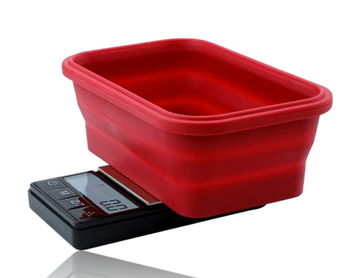 TRUWEIGH CRIMSON COLLAPSIBLE BOWL SCALE 200g x 0.01 - BLACK