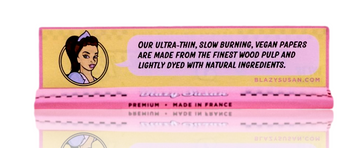 BLAZY SUSAN PINK KING SIZE ROLLING PAPERS