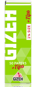 GIZEH 1 1/4 SUPERFINE WITH TIPS