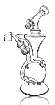"""9.5"""" PULSAR OPAL MARBLE RECYCLER"""