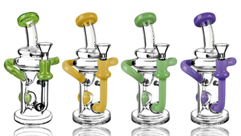 """7.5"""" KLEIN RECYCLER W/ COLOR ACCENTS"""