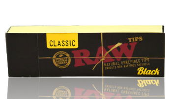 RAW BLACK TIPS PERFORATED