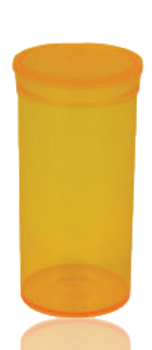 CLEAR ORANGE COLOR 70MM X 35MM POP TOP CONTAINER
