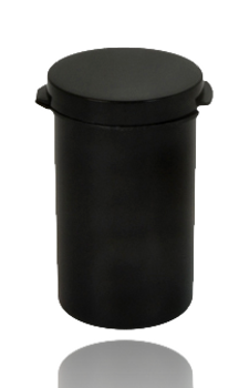 CLEAR BLACK COLOR 30MM X 48MM POP TOP CONTAINER