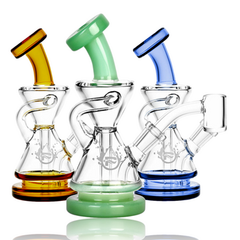 """5.5"""" PULSAR 10MM RECYCLER W/ COLOR ACCENTS"""