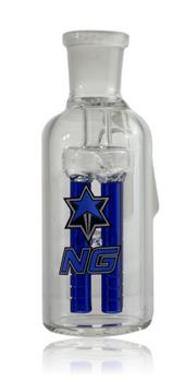 BLUE NICE GLASS 19MM 4-ARM PERC ASHCATCHER