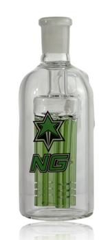 GREEN NICE GLASS 14MM 4-ARM PERC ASHCATCHER