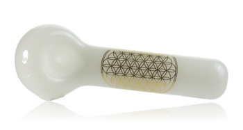 """JELLY FISH WHITE SCARED GEOMETRY FLOWER OF LIFE 5"""""""