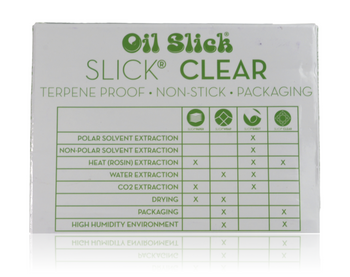 TERPENE PROOF NON STICK CLEAR PACKAGING, 50 PRE CUT SHEETS