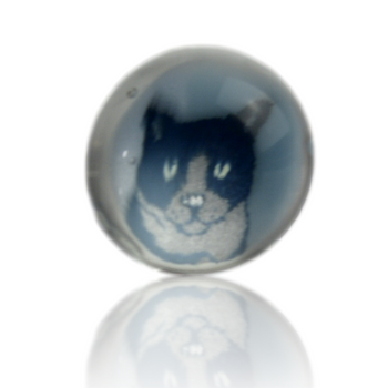 GHOST CAT GLASS MILLIE PEARLS
