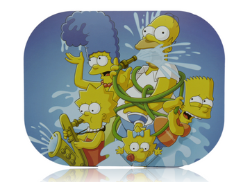 ROLLING TRAY SMALL  W/LID - SIMPSONS