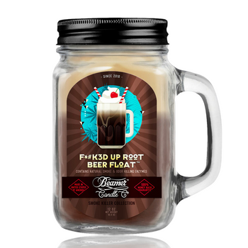 12OZ BEAMER CANDLE - F*#K3D UP ROOT BEER