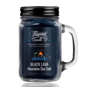 12OZ BEAMER CANDLE - BLACK LAVA HAWAIIAN SEA SALT