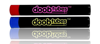 DOOB TUBES - BLACK WITH COLOURED LID