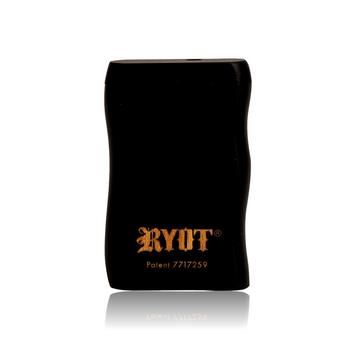 SHORT RYOT BLACK WOOD TASTER BOX W BLACK CIG BAT