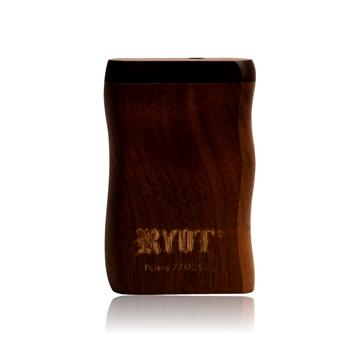SHORT RYOT WALNUT WOOD TASTER BOX W BLACK CIG BAT