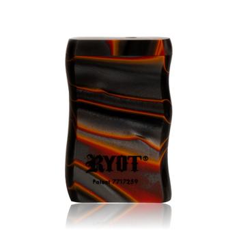 SHORT RED & BLACK ACRYLIC TASTER BOX W BLACK CIG BAT