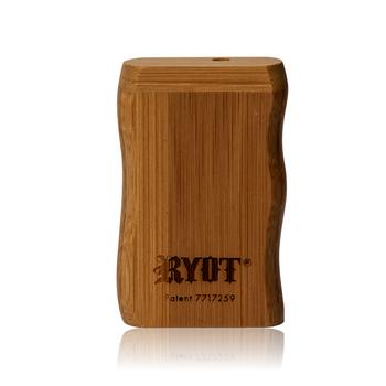 SHORT RYOT BAMBOO WOOD TASTER BOX W BLACK CIG BAT
