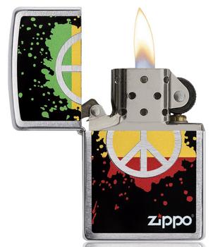 ZIPPO PEACE SPLASH DESIGN