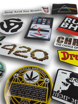 Various Stoner Stickers. Assorted for your pleasure.