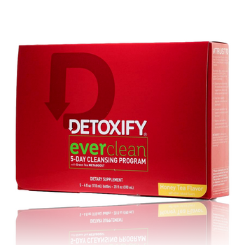 DETOXIFY EVERCLEAN 5 X 5OZ HONEY TEA FLAVOR