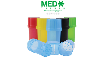The Medtainer is here! Airtight storage and a grinder, all in one!