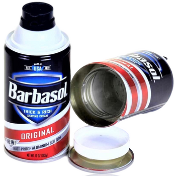 BARBASOL STASH CAN
