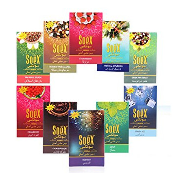 Soex Herbal Shisha. Assorted Flavors. Great for your hookah!