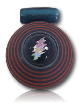 Doug Zolbert Glass - Custom Sandblasted 'Lightning Opal' Pendant.