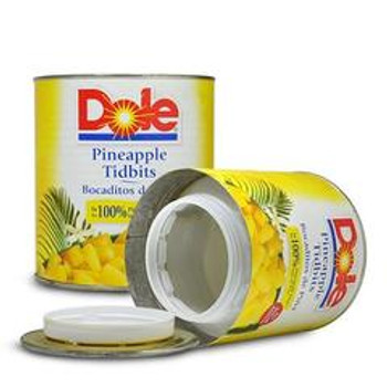Dole Pineapple Stash Can. Plastic, Air tight container inside.