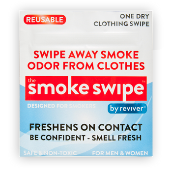The Smoke Swipe from Tommy Chong. 1 Dry Wipe for use on clothing.