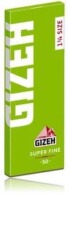 GIZEH 1 1/4 SUPER FINE CUT CORNER ORGANIC HEMP PAPERS